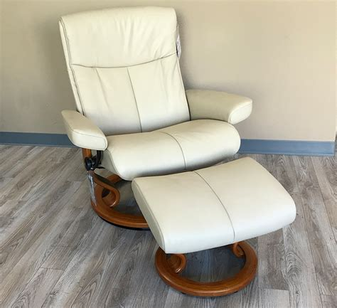 beige leather recliner stressless peace paloma beige leather by ekornes