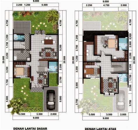 desain rumah minimalis 2 lantai luas tanah 60m2 model rumah unik