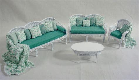 white wicker living room furniture white wicker living room furniture dressed in green