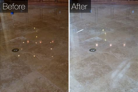 Before & After Tile Cleaning of WPB Stone & Tile Cleaning