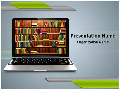 digital library powerpoint template is one of the best
