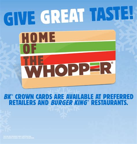 Bk Crown Card Gift Card - burger king 174 get fresh offers 2 for 5