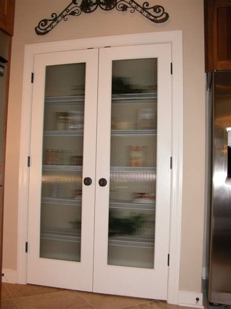 full veiw double pantry doors pattern resembles clear