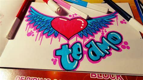 imagenes de amor para mi novio en graffiti como hacer un graffiti te amo corazon con alas speed