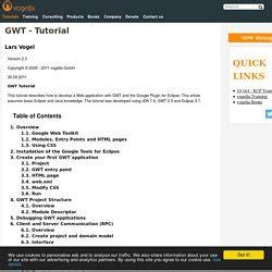 javascript tutorial vogella gwt computer pearltrees