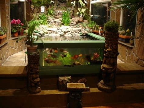 Indoor Ponds by Indoor Ponds This Indoor Pond Has See Through Gl