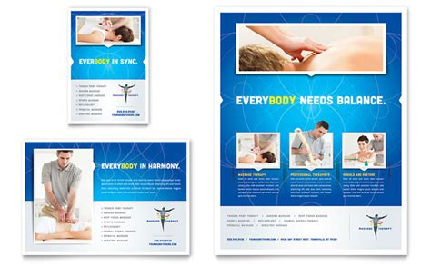 free design templates for advertising reflexology massage flyer ad template design