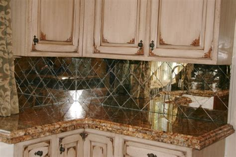 antique mirror tile backsplash antique mirror backsplash