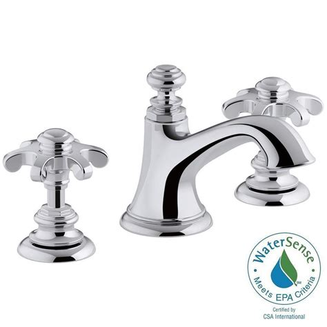 Kohler Bathroom Shower Faucets Design Kohler Artifacts 8 In Widespread 2 Handle Bell Design Bathroom Faucet In Polished Chrome With