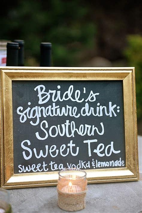 signature drinks bride and groom wedding