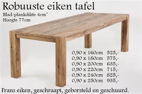 tafel oud maken oud eiken eettafel super massief eikenrijk nl