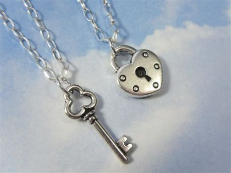 key to my couples necklaces 2 necklaces sterling