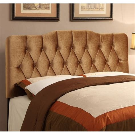 soft headboard pri king velvet upholstered soft shape headboard in bronze