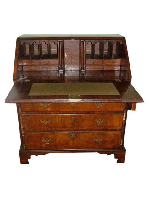 18th century georgian mahogany slant front desk