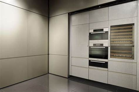 Satin Finish Kitchen Cabinets Kitchen Cabinet Fronts In Golden With Neat Satin Finish By Giorgio Armani Kitchen Design Ideas