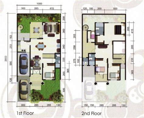 denah rumah minimalis  lantai type  interior rumah