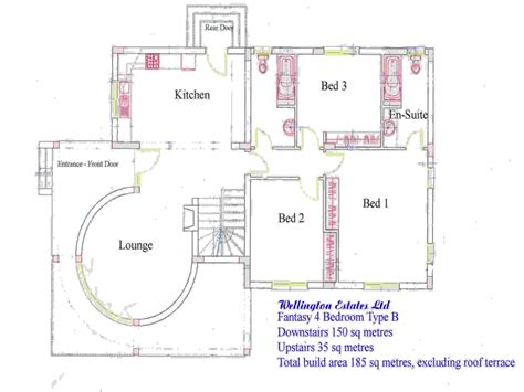 Residential Blueprints 4 Bedroom Bungalow Floor Plan Residential House Plans 4 Bedrooms 4 Bedroom House Floor Plan