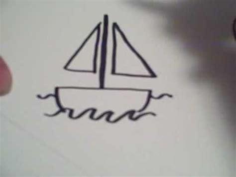 cartoon boat youtube how to draw a cartoon sailboat youtube