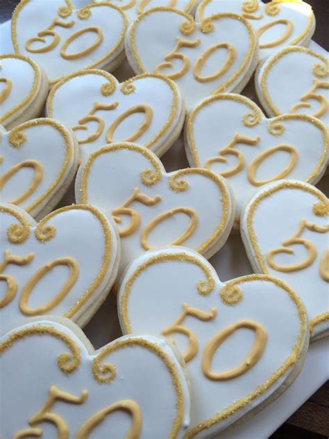 50th Wedding Anniversary Giveaways - 50th wedding anniversary cookies cookie connection wedding ideas pinterest