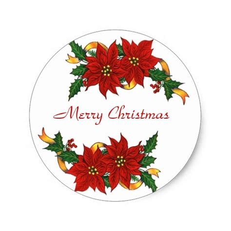 Aufkleber Frohe Weihnachten by Merry Stickers Zazzle