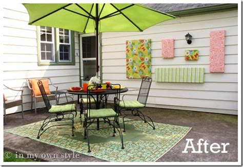 cheap patio decorating ideas how to make outdoor wall in my own style
