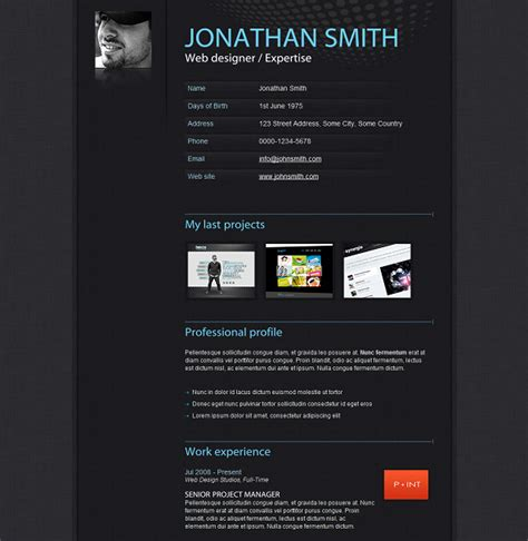 website templates for resume the best free premium cv resume website template