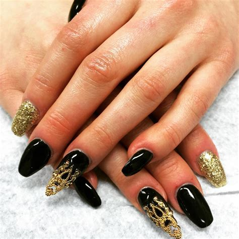Nail And by 28 Black Stiletto Nail Designs Ideas Design