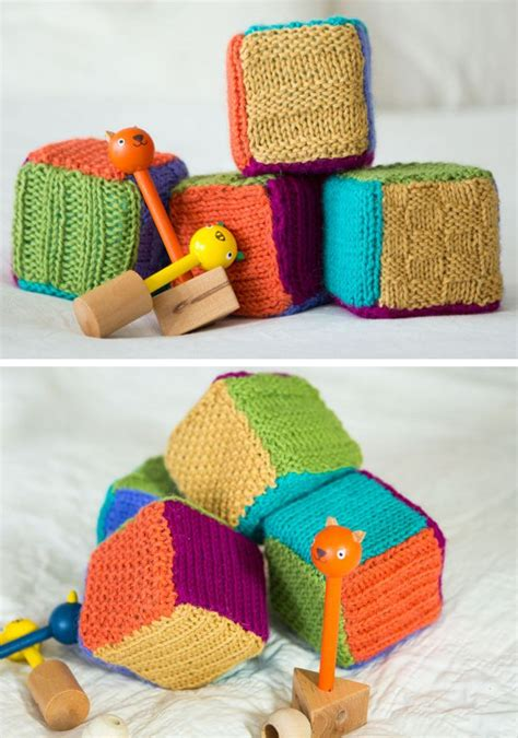knitted baby blocks how to re purpose swatches in the loop knitting