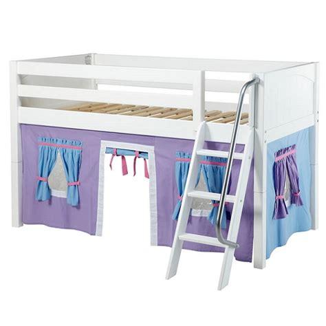 twin loft bed curtains maxtrix loft bed twin low loft w angled ladder curtains
