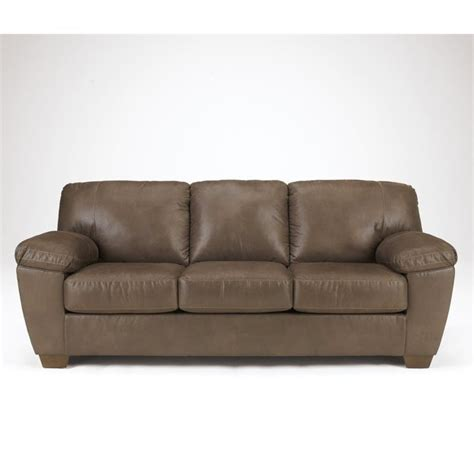 ashley furniture sectional microfiber ashley microfiber sofa in walnut 6750538