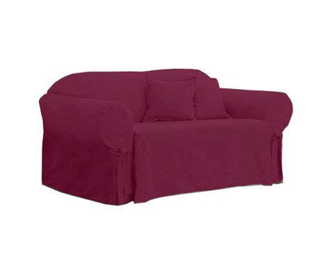 cotton duck sofa slipcover clearance sure fit cotton duck sofa slipcover qvc com