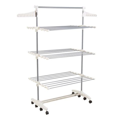 Dryer Racks by Everyday Home Rolling Stainless Steel Drying Rack 82