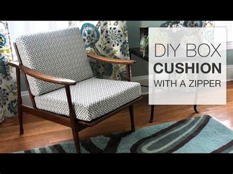 Chair Slipcover T Cushion How To Make A Box Cushion With A Zipper Youtube