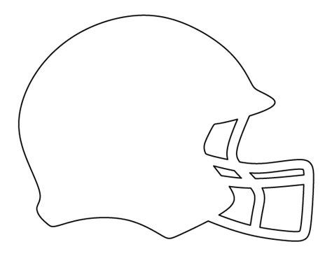 football outline template printable football helmet template