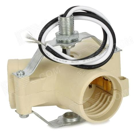Three Bulb Lamp by E27 Base Light Lamp Bulb Socket 3 Splitter Adapter Beige