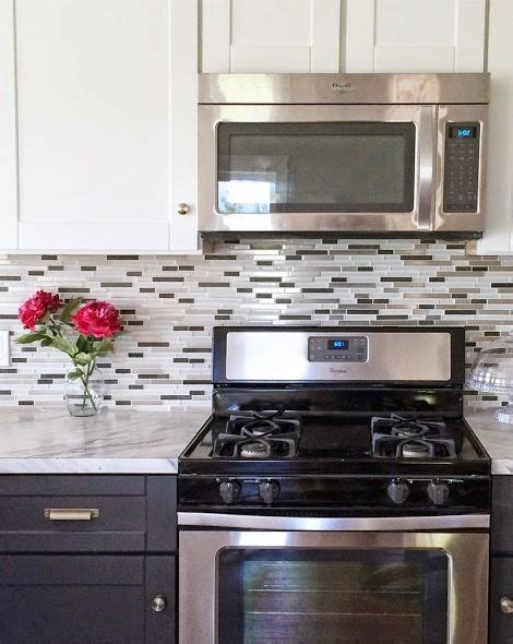 mosaic glass tile backsplash white diy projects