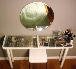 Vanity Table Ideas Ikea Diy Ikea Makeup Vanity Shelterness