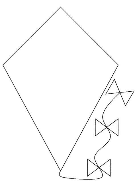 pattern of c a kite coloring latawce i wiatraki pinterest