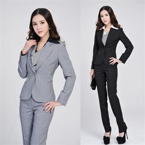 Formal Ladies Gray Blazer Women Business Suits Formal Office Suits Work Spring Winter Fashion