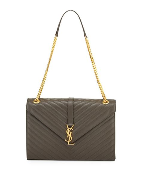 saint laurent monogram large kate chain shoulder bag dark