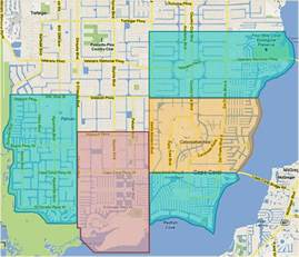cape coral map florida cape coral waterfront search waterfront homes in cape