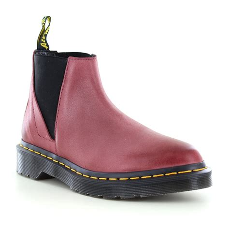 dr martens womens leather chelsea boots wine