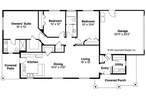 House Floor Plans Ranch by Ranch House Plans Hopewell 30 793 Associated Designs