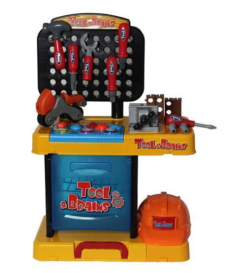 little boys tool bench children kids boys tool drill kit work bench set role play diy pretend toy 47pc ebay