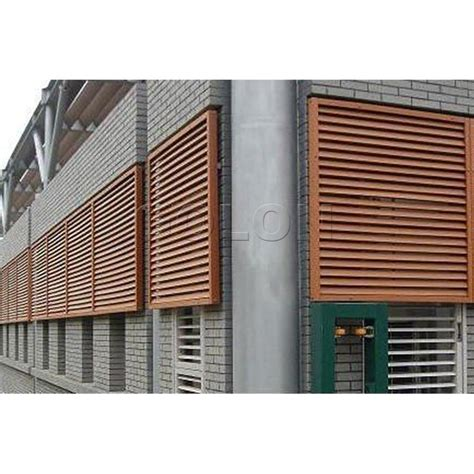 interior security window shutters wholesale aluminum material and vertical opening pattern
