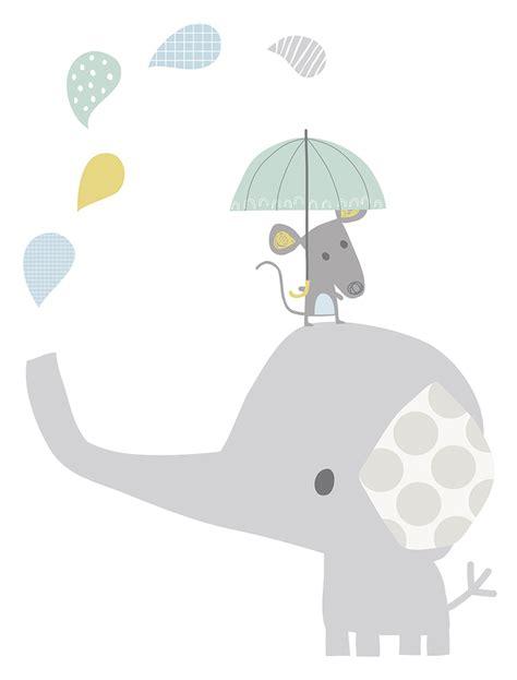Wall Sticker For Baby Room lilipinso xl wandtattoo elefant amp maus grau pastell 75cm