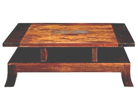 table bois et chiffons 10 objets tendance asie table basse quot shan quot de bois