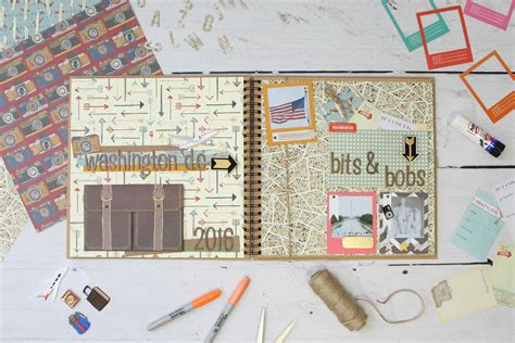 scrapbook layout craft how to make a travel scrapbook layout hobbycraft blog
