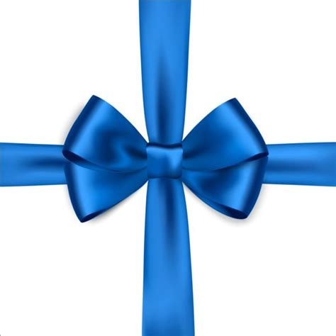 Blus Ribbon blue ribbon bows vector free