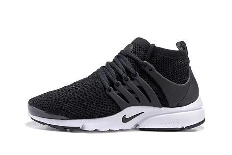 Nike Flyknite Running Black White mens womens nike air presto flyknit ultra black white